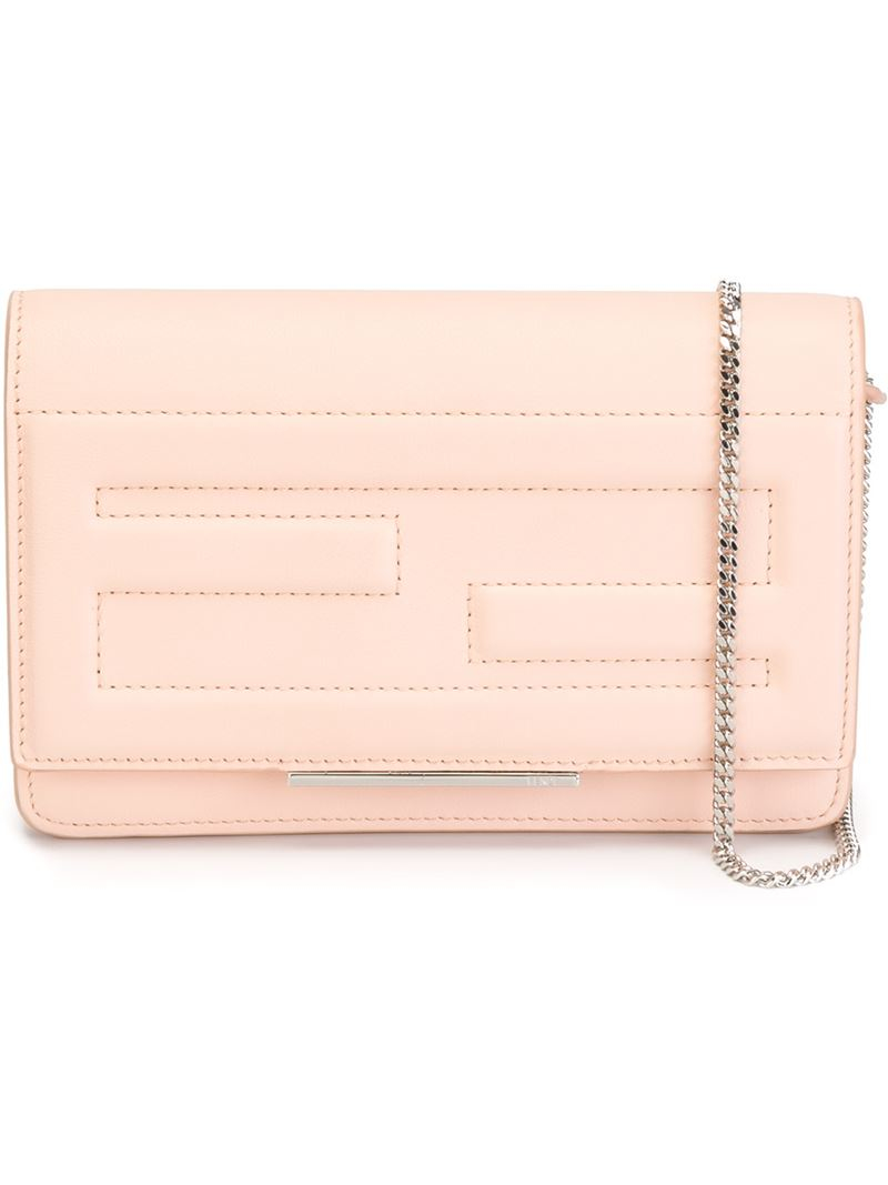 d56ac4cee2 Lyst - Fendi  tube  Crossbody Bag in Pink