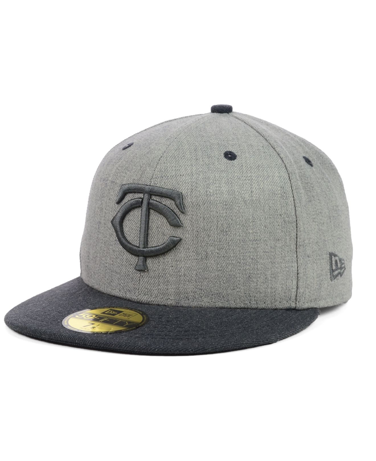 low priced d8113 bfc63 Lyst - KTZ Minnesota Twins Heather Mashup 59Fifty Cap in Gray for Men