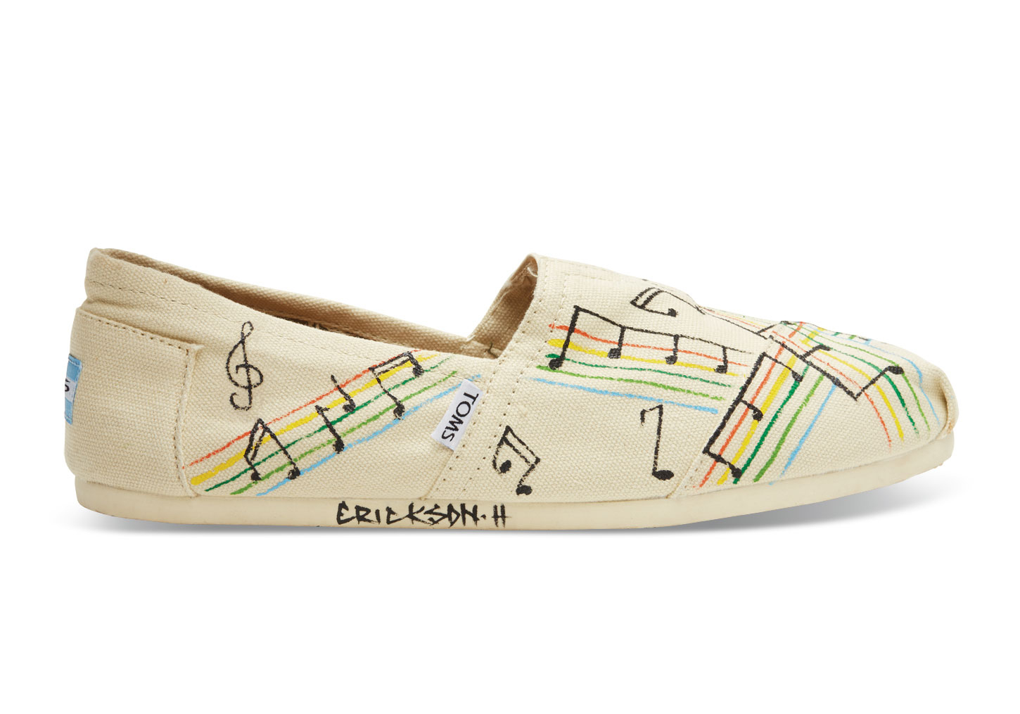4d53d2b0be2 Lyst - TOMS Haiti Music Notes Women S Classics in Natural