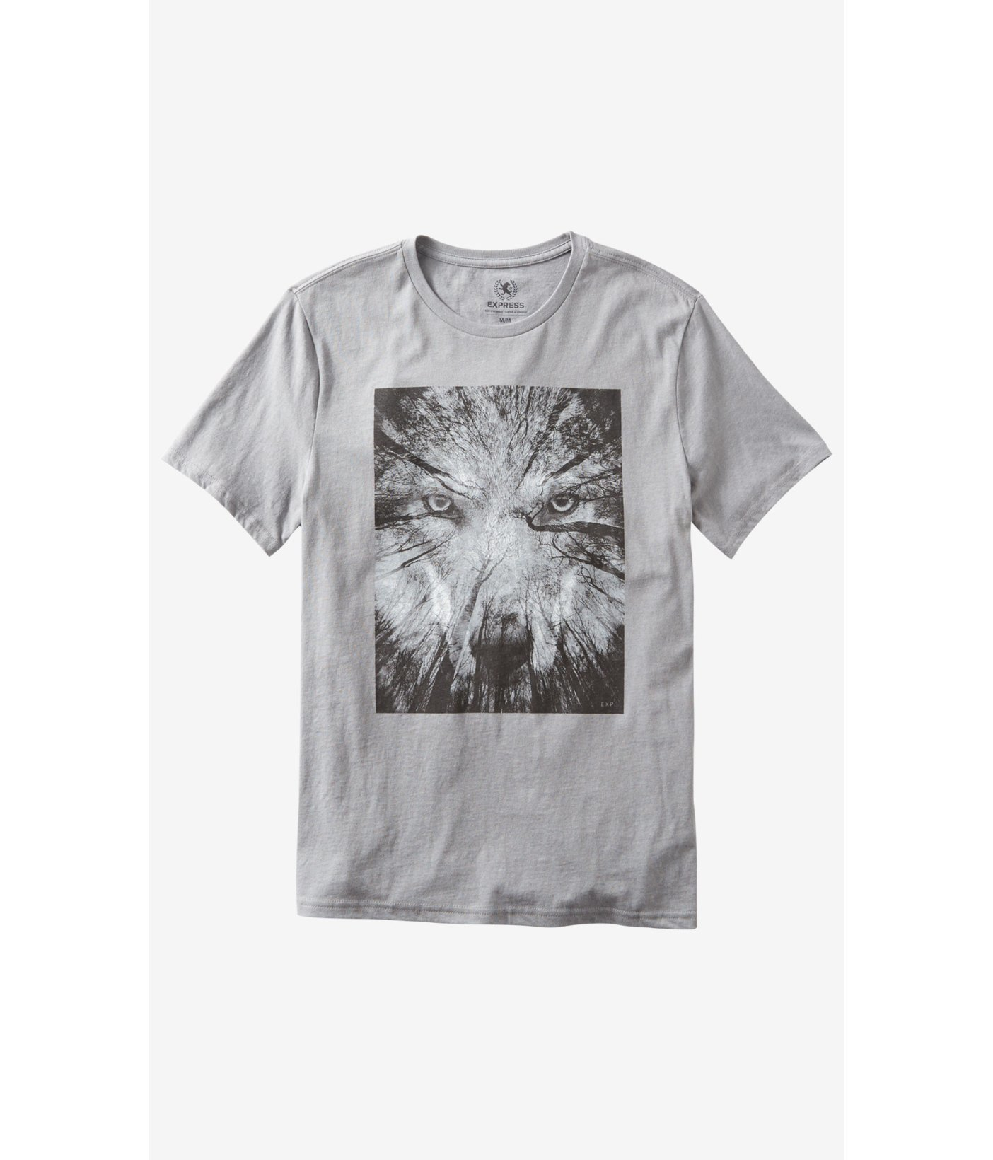 9b9819cac Express Forest Wolf Graphic Tee in Gray for Men - Lyst