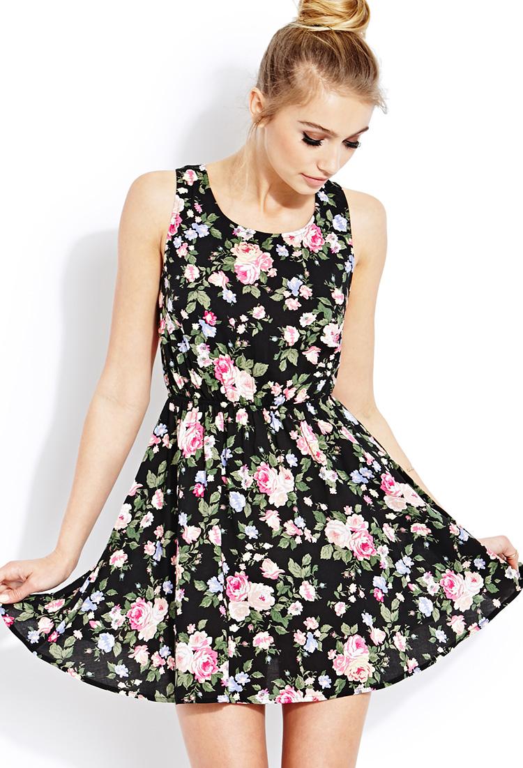 lyst forever 21 floral daze dress in pink