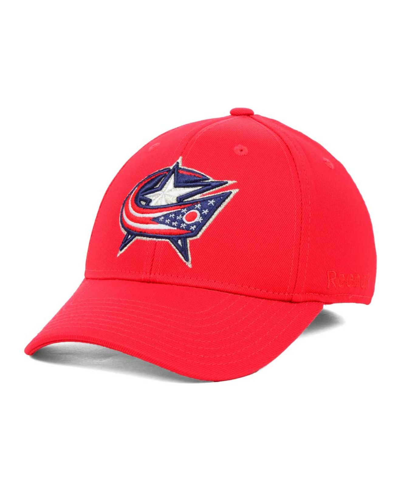 7bd8d2a5785 Lyst - Reebok Columbus Blue Jackets Hat Trick Cap In Red For Men