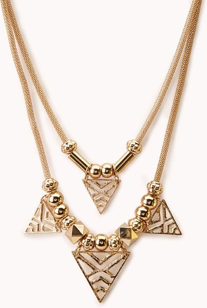 forever 21 forever cool cut out necklace in gold lyst