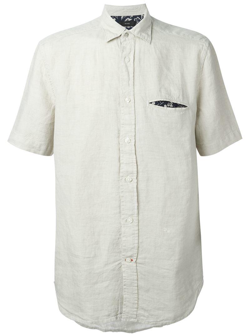 cfbd84caac9 Lyst - DIESEL  s-emiko  Shirt in White for Men
