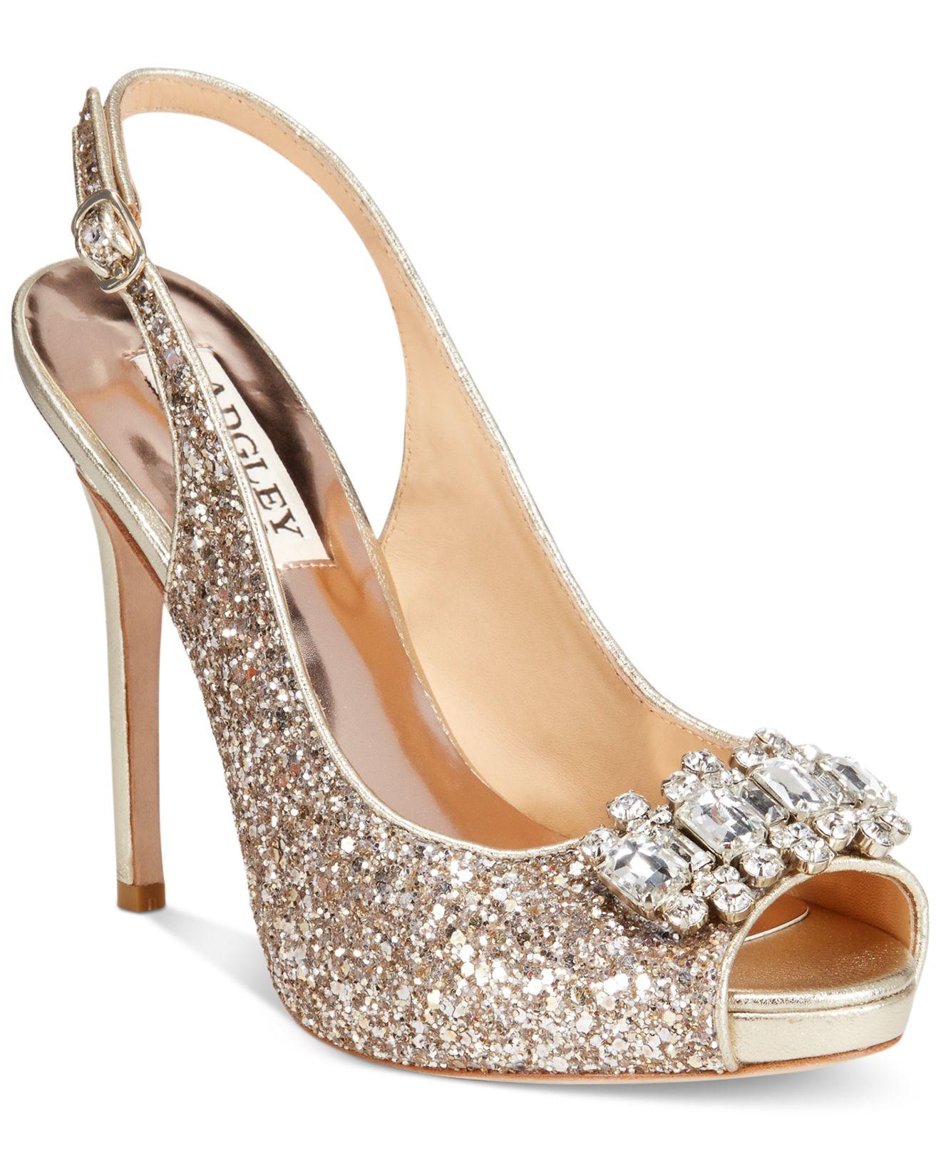 ab49d6e7576 Lyst - Badgley Mischka Adore Evening Sandals in Metallic