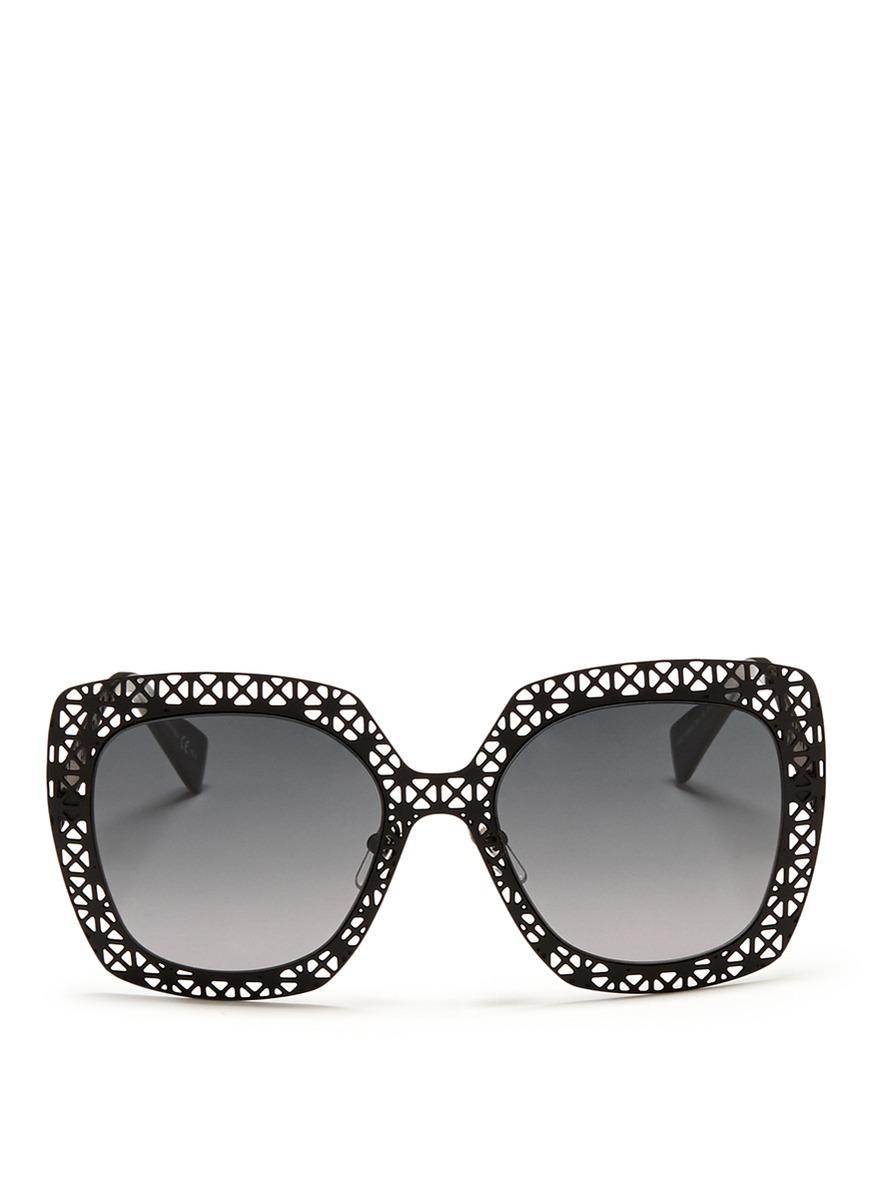 square sunglasses - Metallic Alexander McQueen Eyewear ufgwj