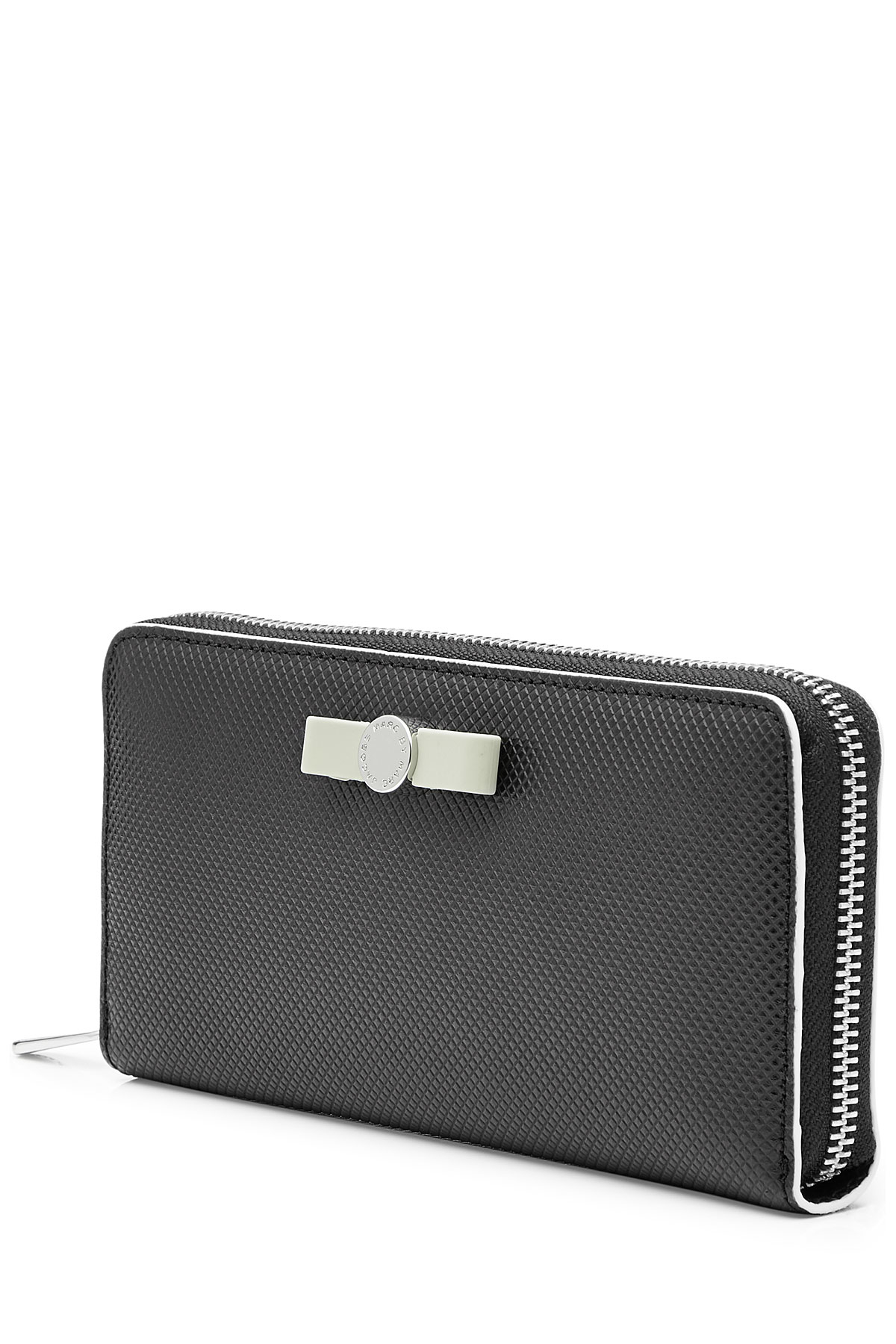 Lyst Marc By Marc Jacobs Textured Leather Zip Around