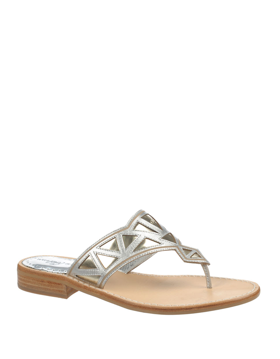 Lyst Sam Edelman Treva Two Tone Leather Thong Sandals In