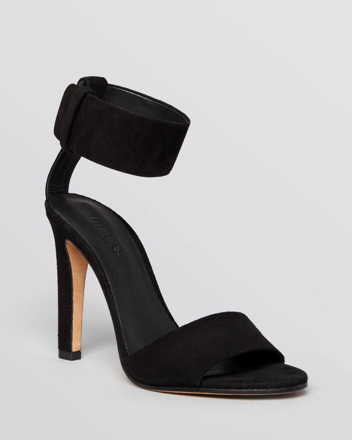 Lyst Vince Open Toe Ankle Strap Sandals Gita In Black