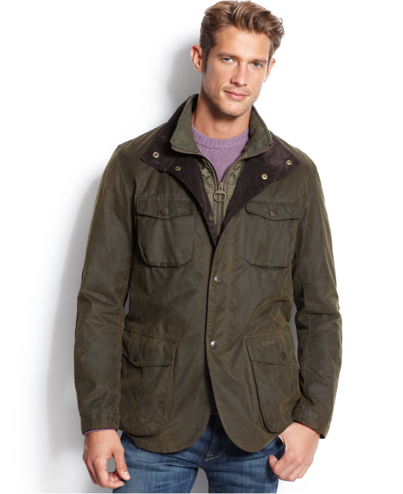Barbour Ogston Waxed Jacket In Green For Men Lyst
