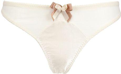Bordelle Techno Mesh Thong in White (off white)