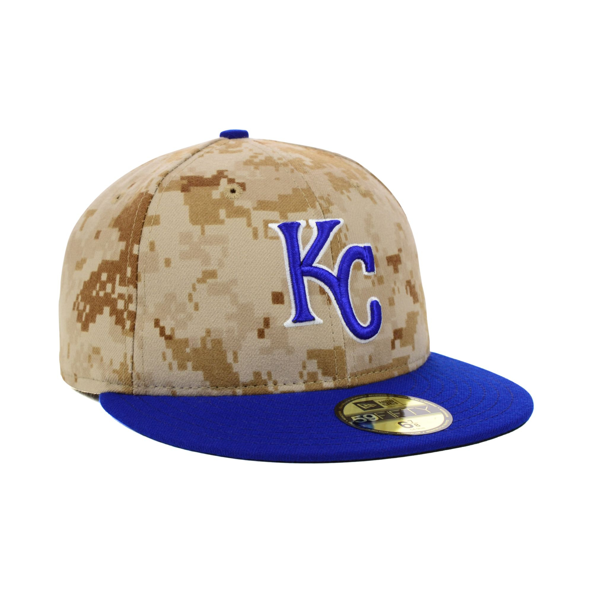 cheap for discount 4618f 83f70 KTZ Kansas City Royals Stars and Stripes 59fifty Cap in Brown for ...