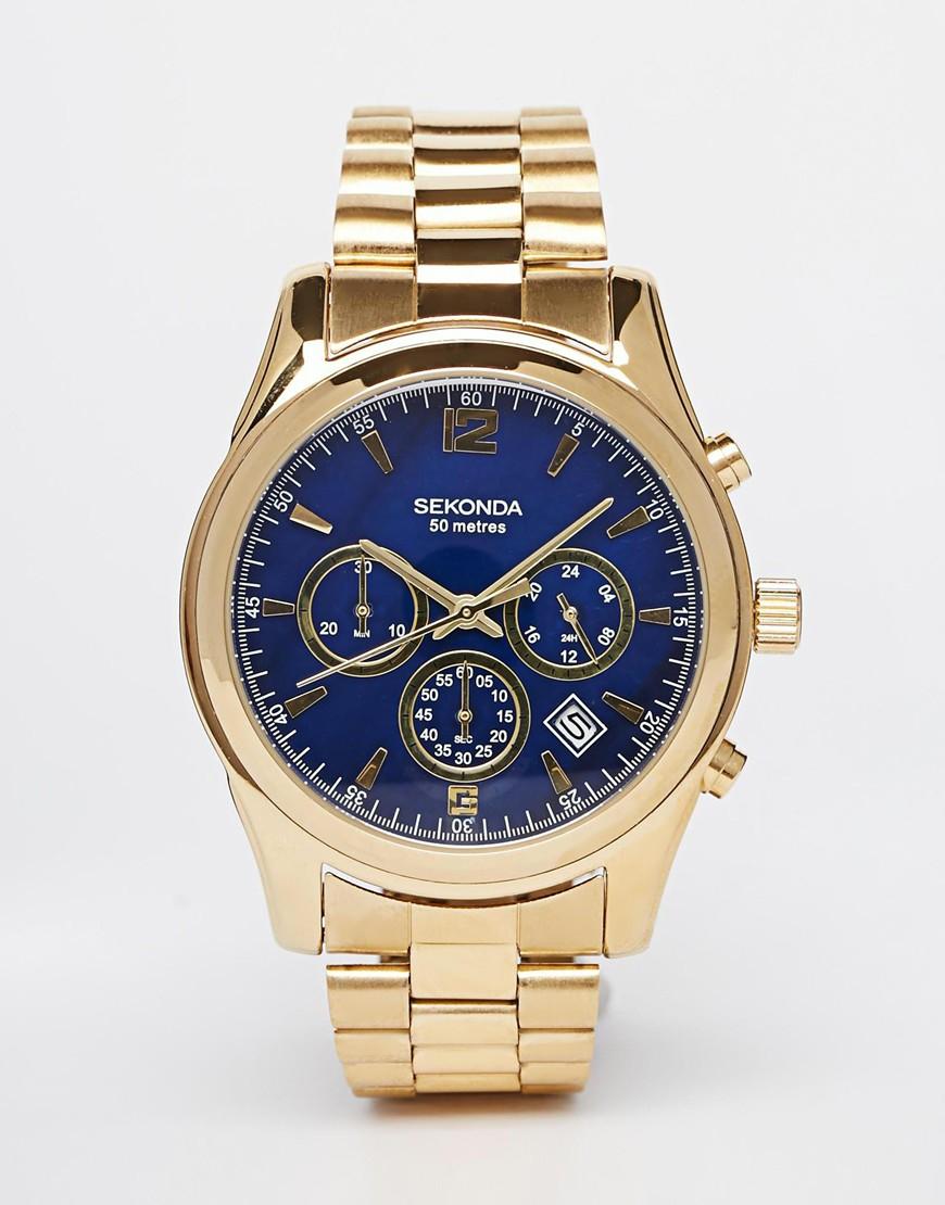Lyst sekonda watch in gold stainless steel 1050 in metallic for men for Sekonda watches