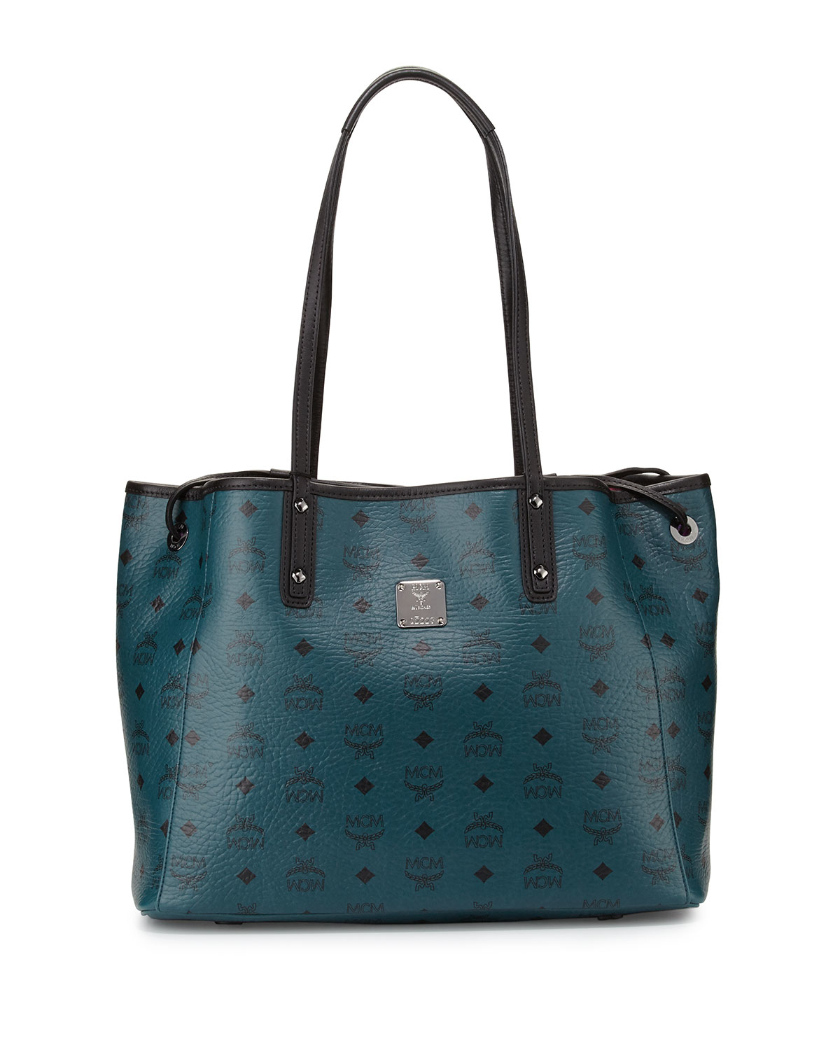 mcm galaxy reversible medium shopper tote bag in green lyst. Black Bedroom Furniture Sets. Home Design Ideas