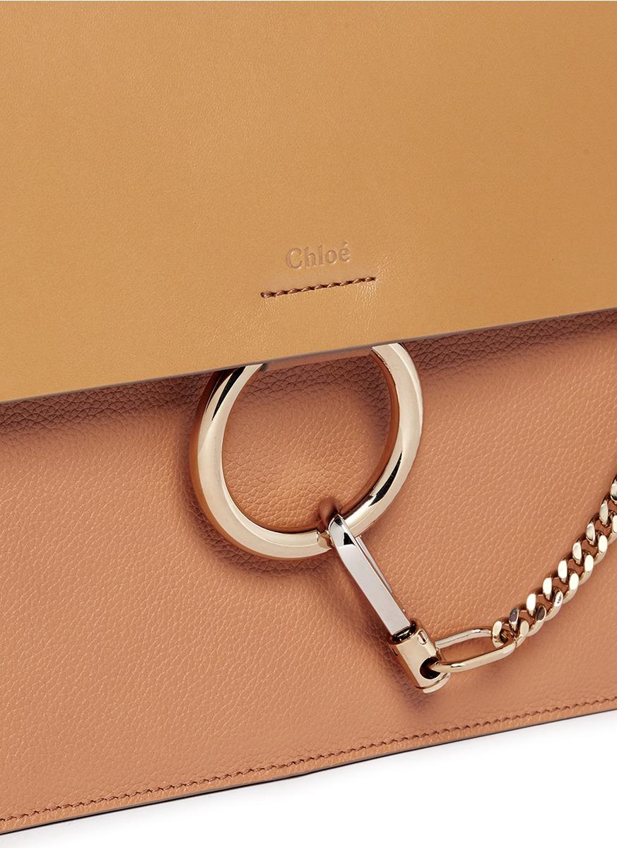 Chlo�� \u0026#39;faye\u0026#39; Medium Smooth Flap Leather Shoulder Bag in Brown | Lyst