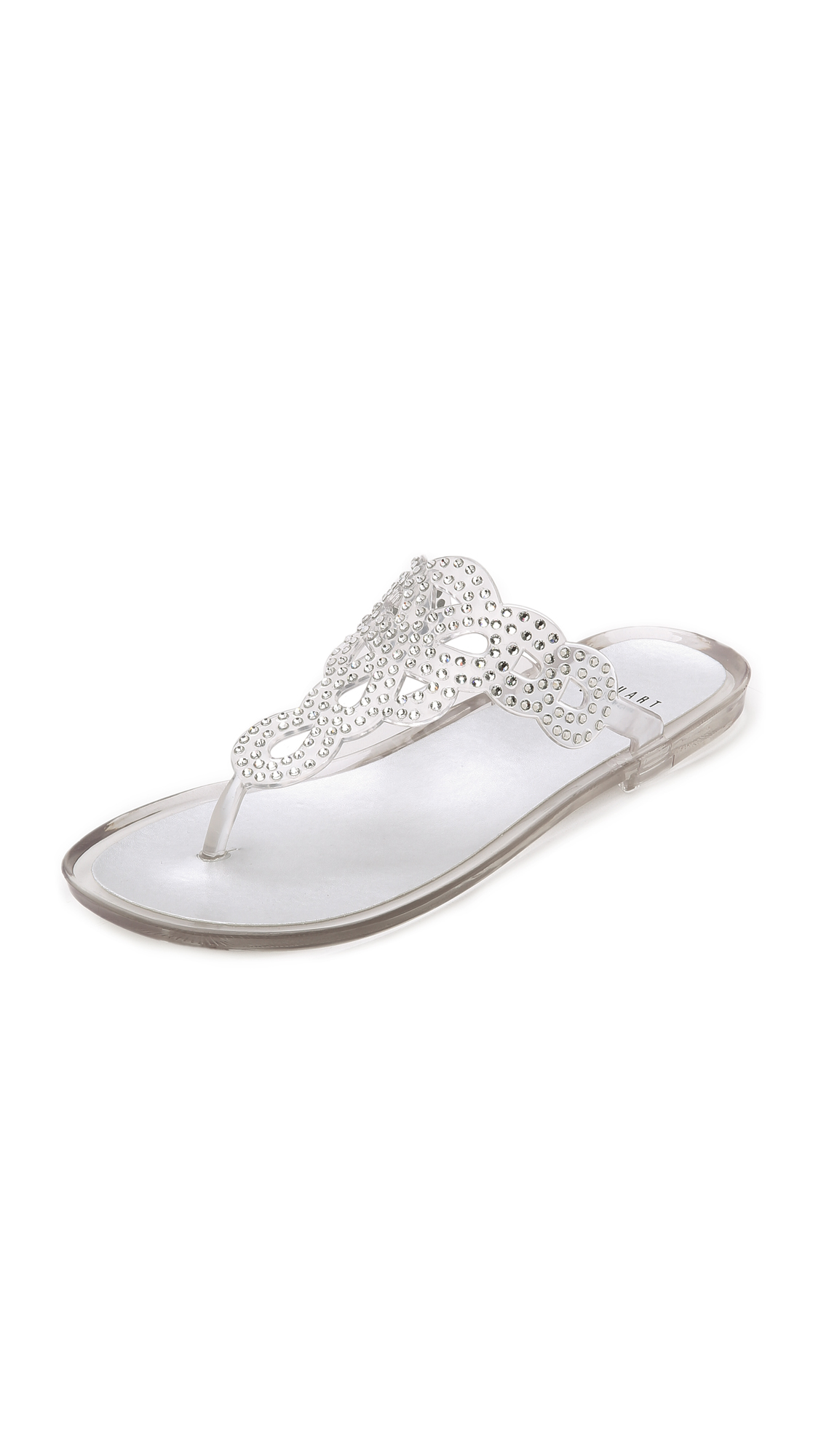 c0834f18bc83 Stuart Weitzman Mermaid Jelly Thong Sandals - Clear - Lyst
