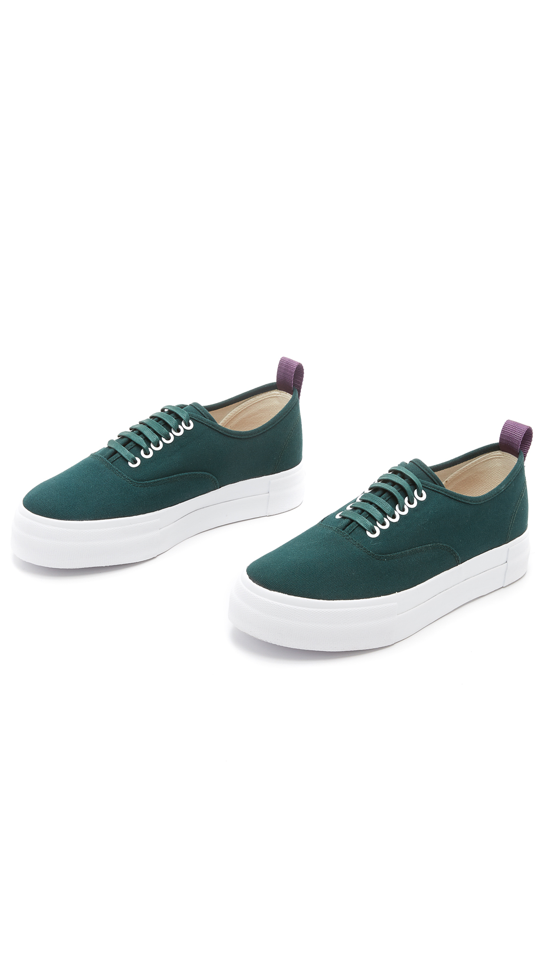 Eytys Mother Canvas Sneakers in Green