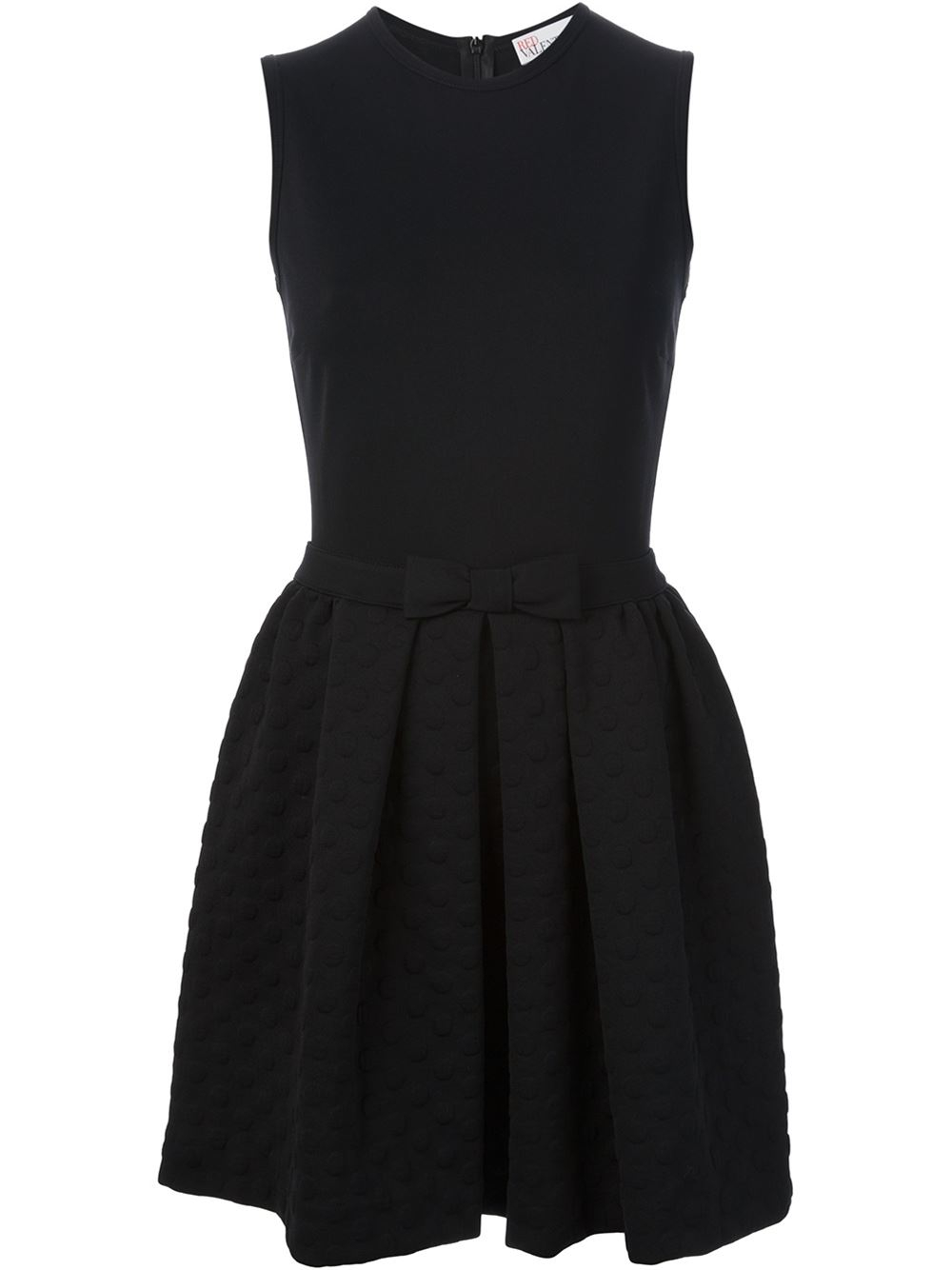 lyst red valentino bow detail dress in black