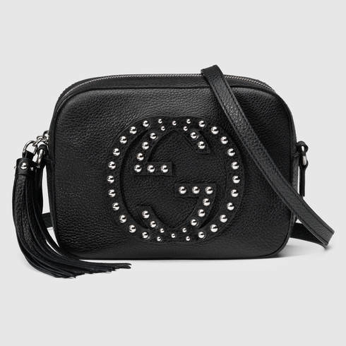 0fb119b316e Gucci Soho Studded Leather Disco Bag in Black - Lyst