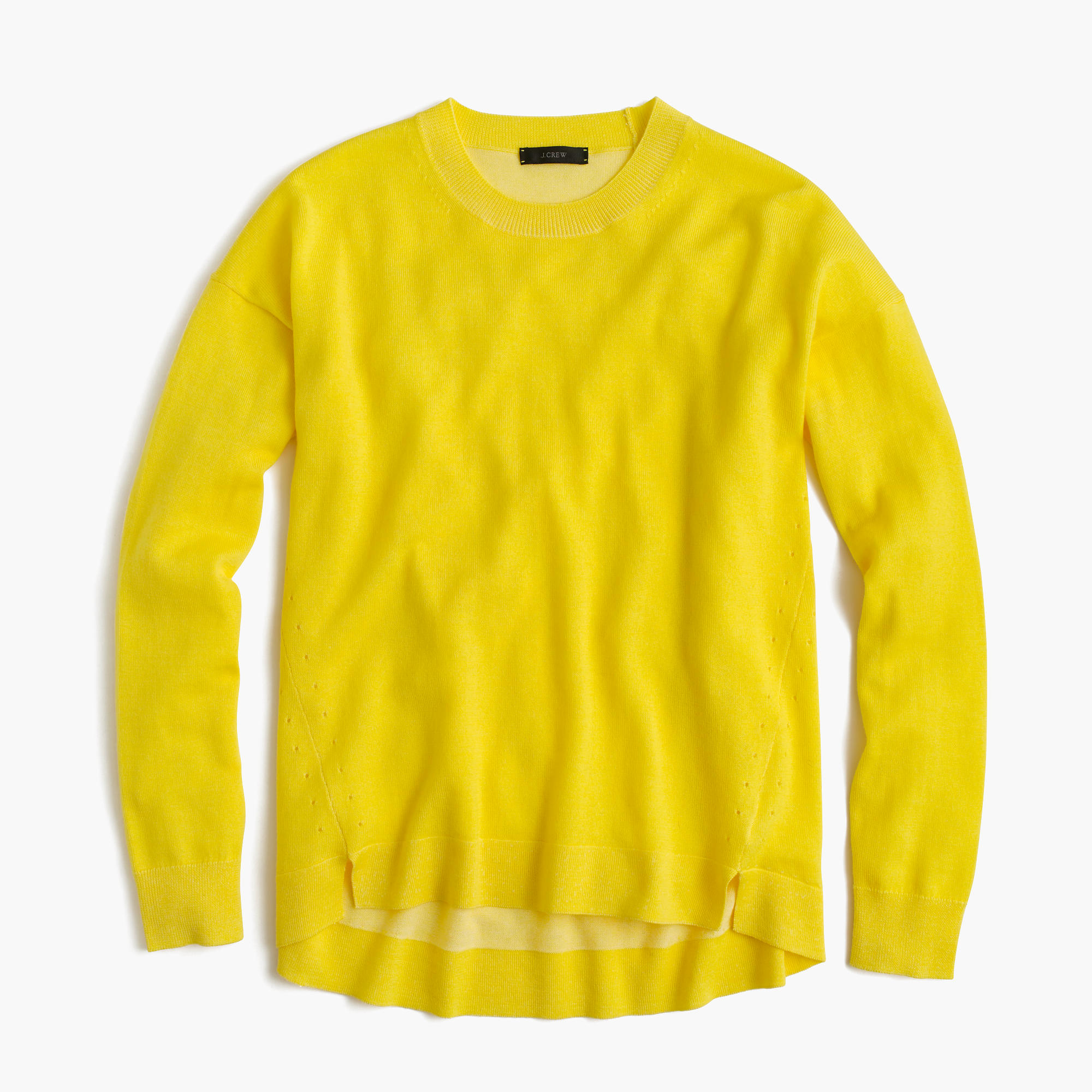 J.crew Lightweight Wool Tunic Sweater in Yellow | Lyst