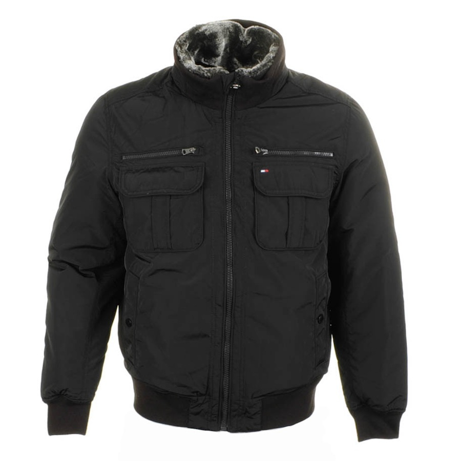 Lyst Tommy Hilfiger Ken Bomber Jacket In Black For Men