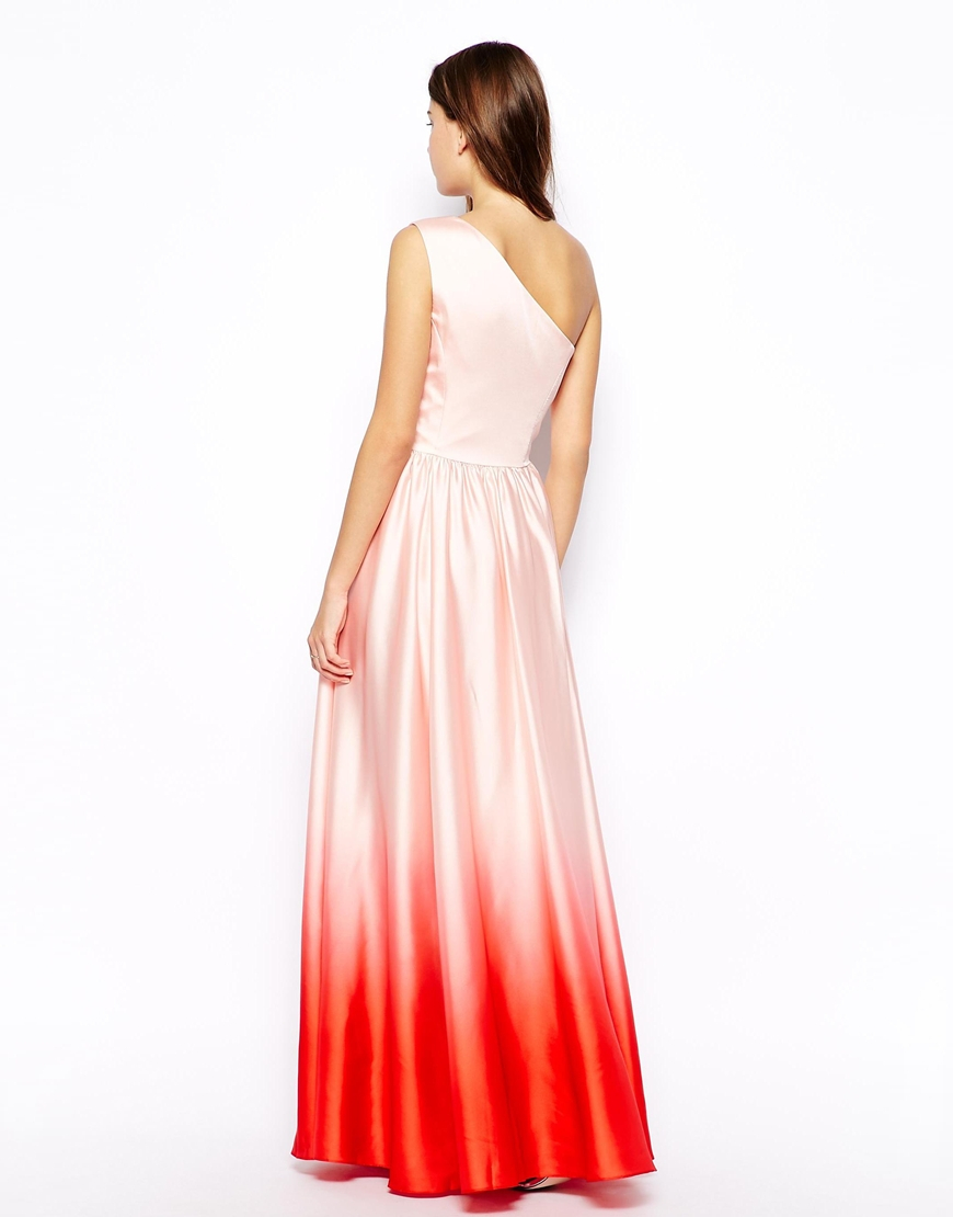 Lyst Ted Baker Daneka Maxi Dress With Dip Dyed Hem In Pink