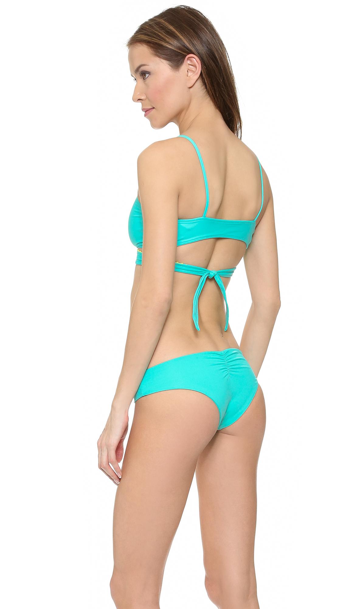 f2a24ccb24eed L*Space L* Bohemian Beach Chloe Wrap Bikini Top - Caribbean in Blue ...