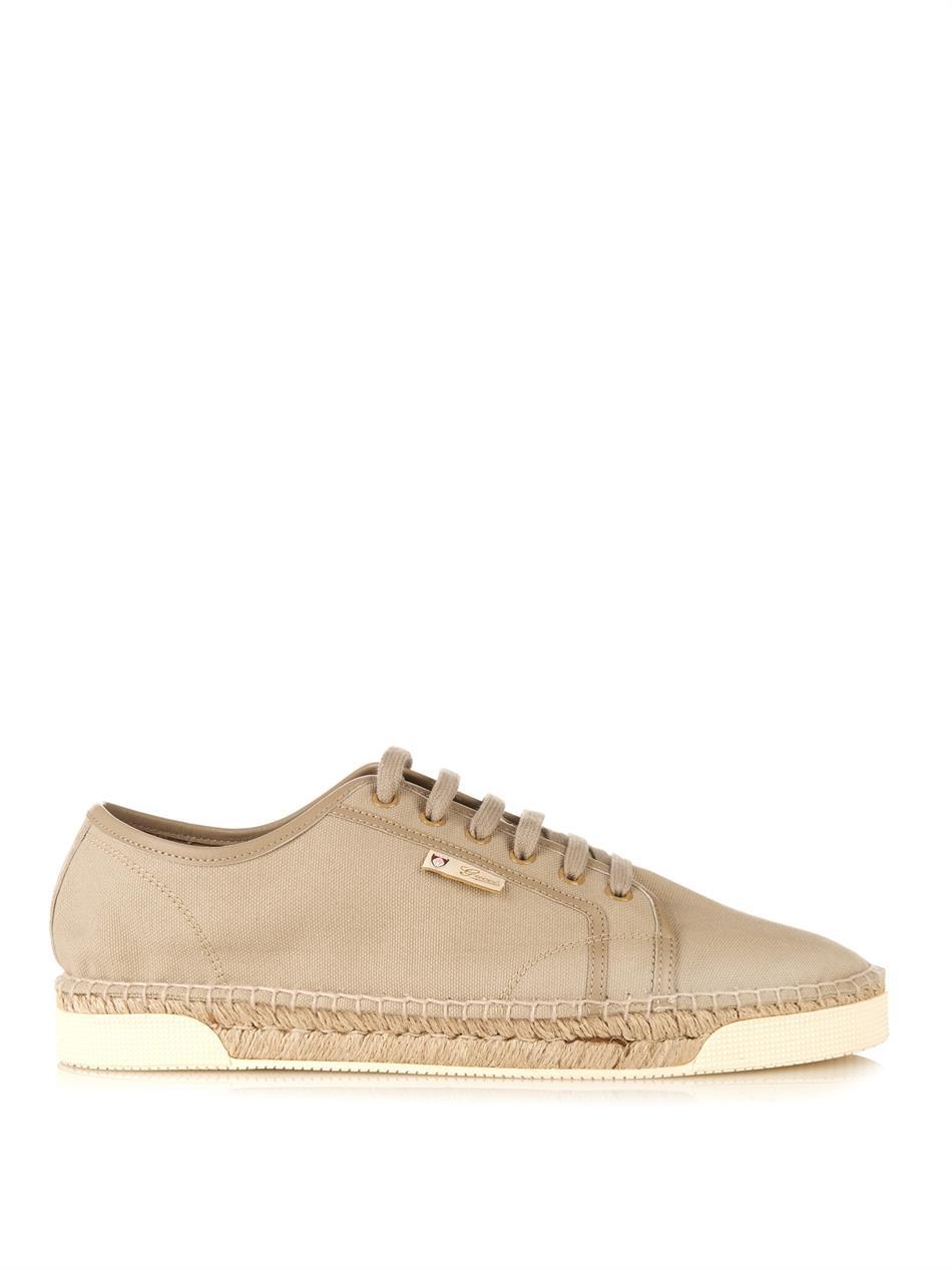 94da16d5e Gucci Eivissa Canvas Espadrille Sneakers in Natural for Men - Lyst