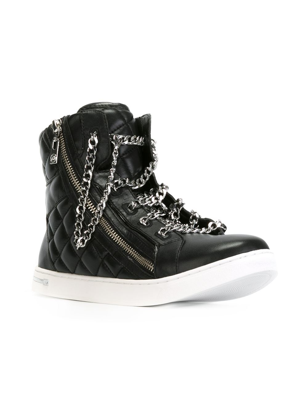 michael michael kors urban chain high top sneaker product 0 992595249. Black Bedroom Furniture Sets. Home Design Ideas