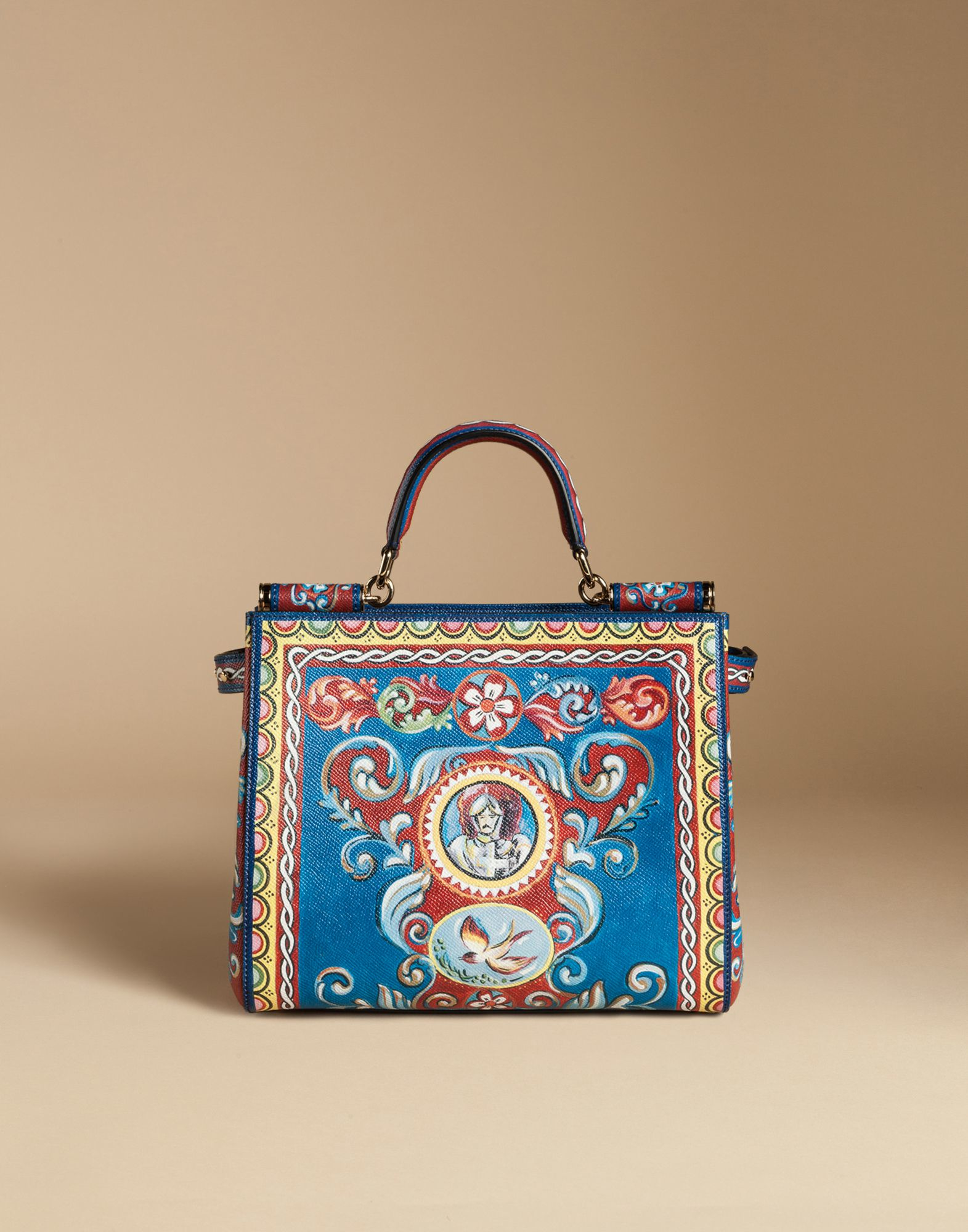 12ea7d999506 Dolce   Gabbana Sicily Shopping Bag In Printed Dauphine Leather in ...