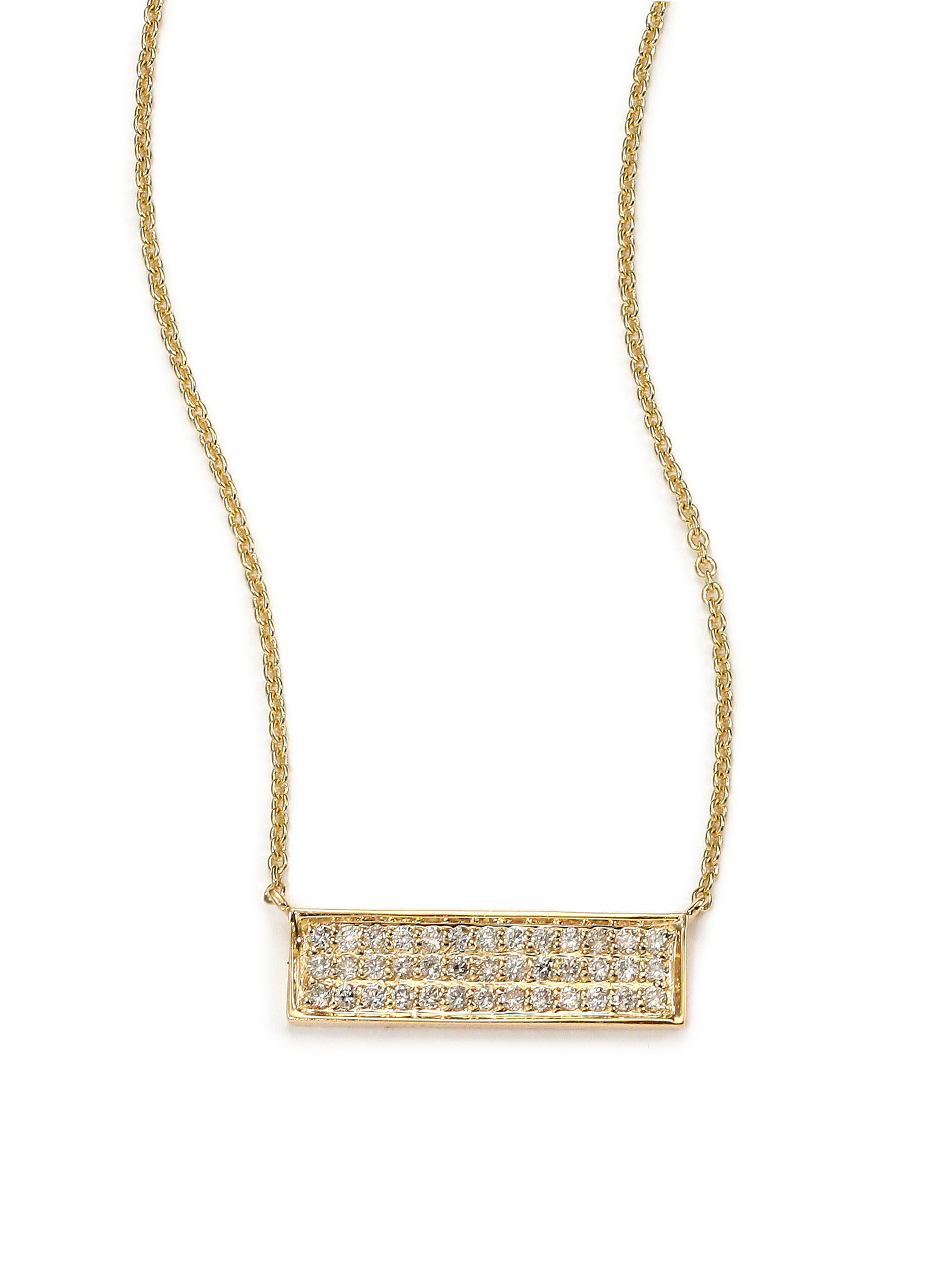 wb vertical lumo pendant necklace gold bar products