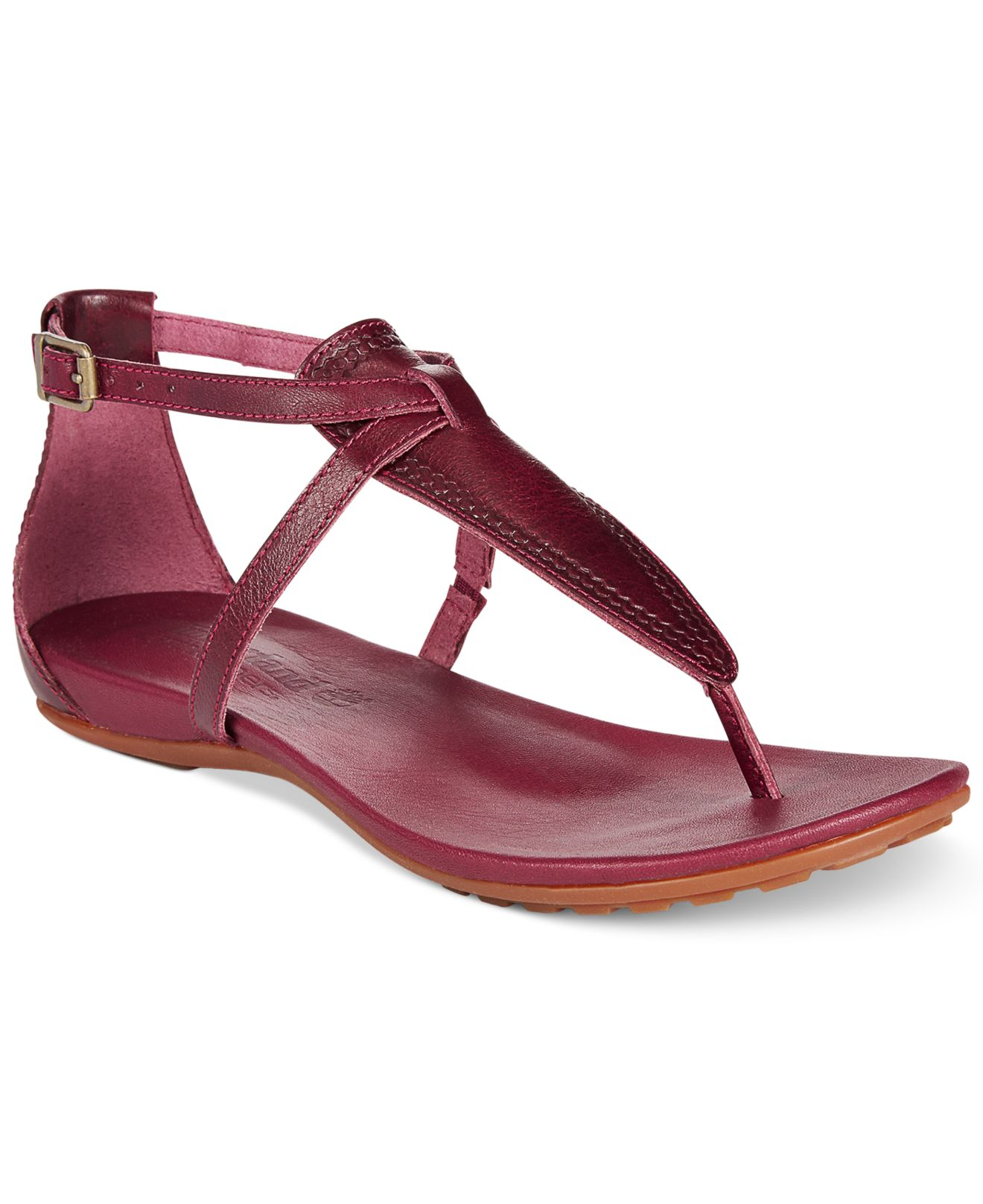52dd49ec824 Lyst - Timberland Women S Earthkeepers Harbor View Ankle Strap Flat ...