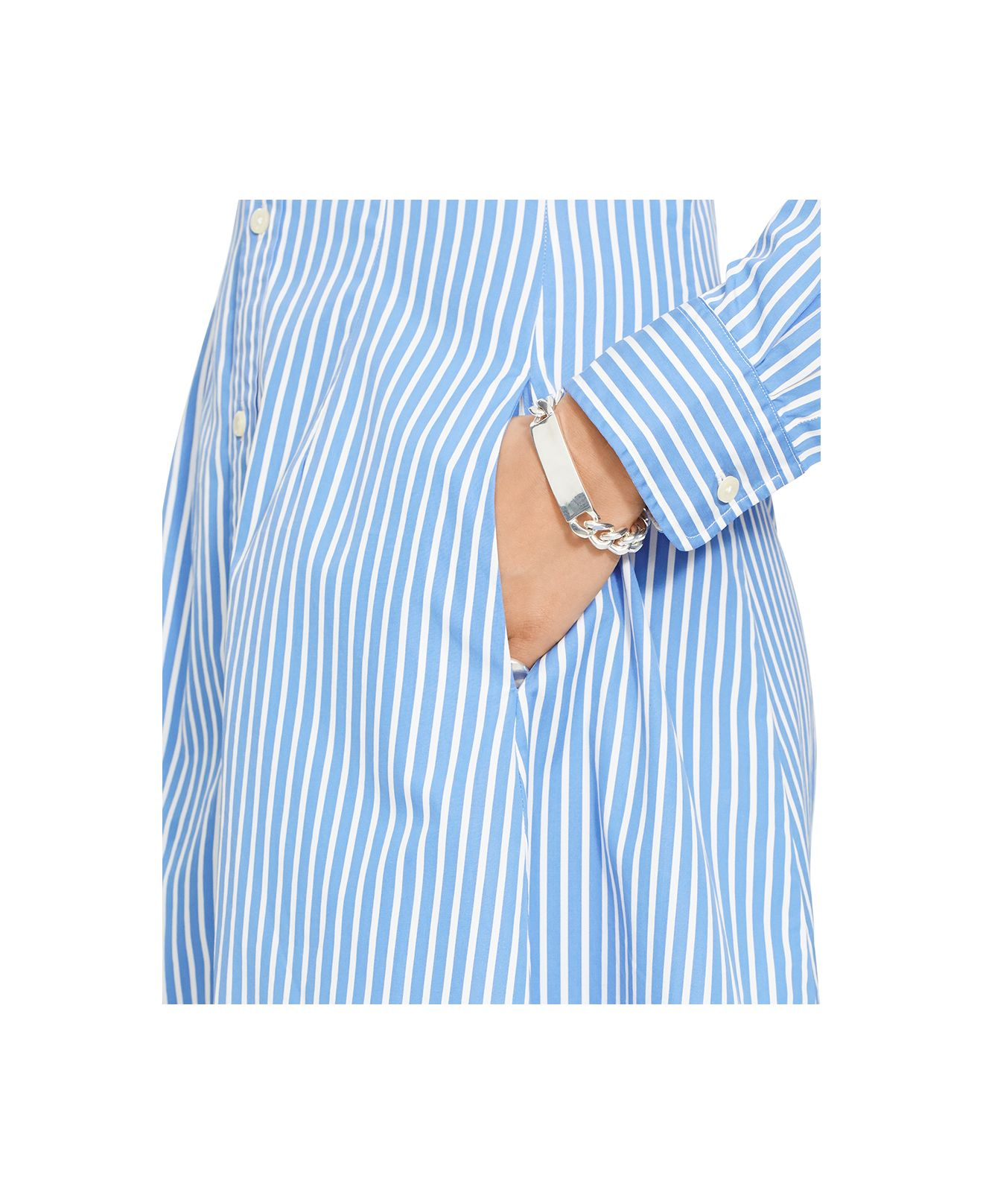 f3f02b7f1c8 Polo Ralph Lauren Long-Sleeve Striped Shirtdress in Blue - Lyst