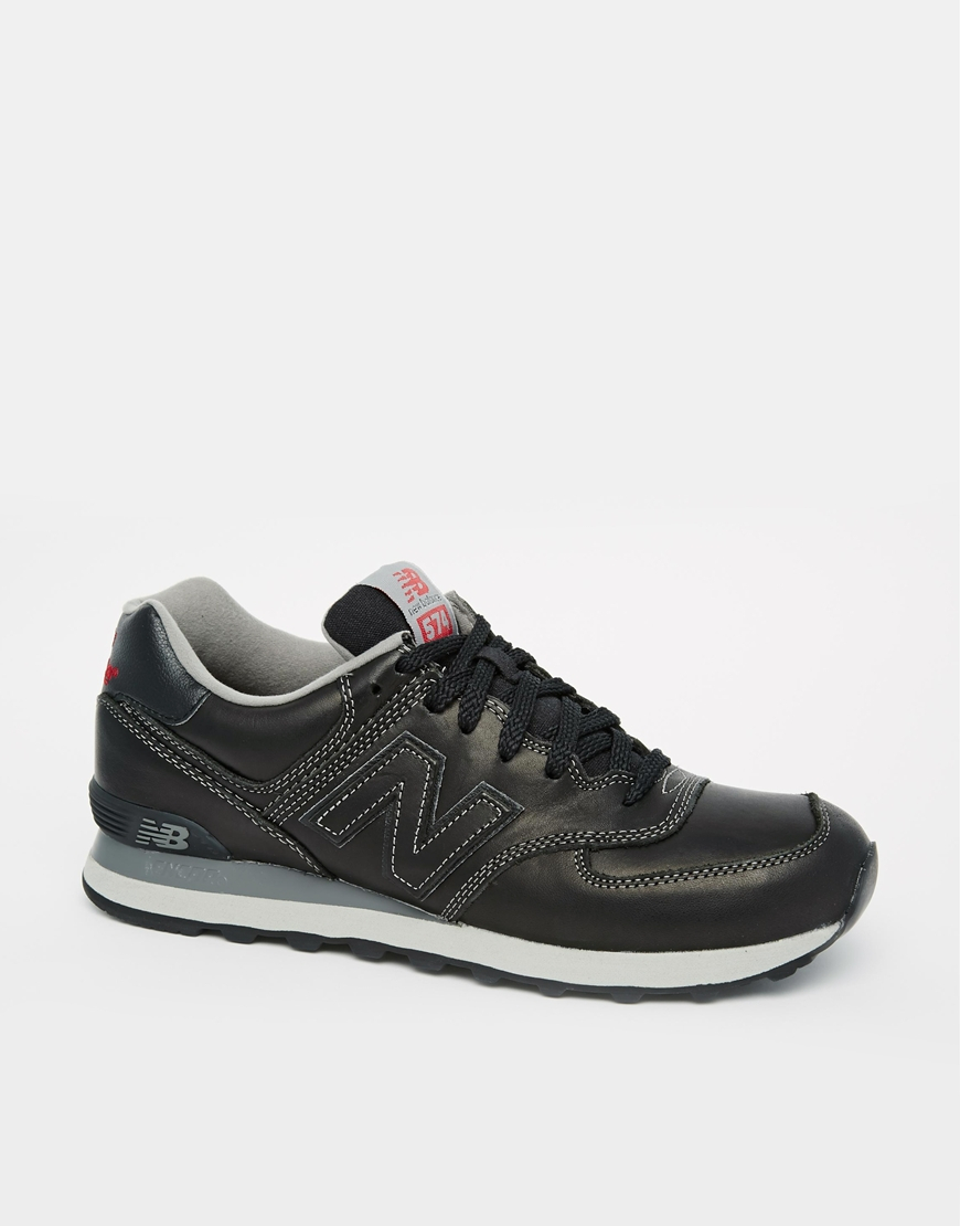 Lyst Men New In Sneakers 574 Black For Balance Lux Leather qzpGULSMV