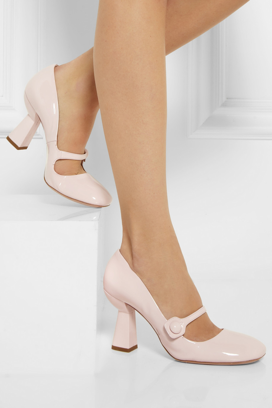9ad743c94af Gallery. Previously sold at  NET-A-PORTER · Women s Mary Jane Shoes Women s  Miu ...