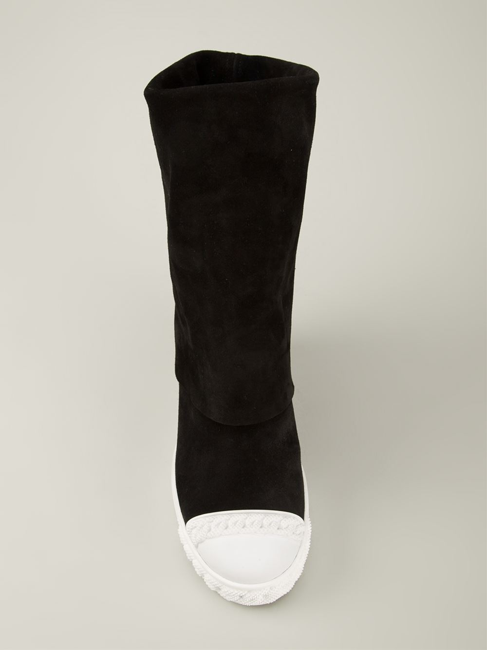 casadei concealed wedge boots in black lyst