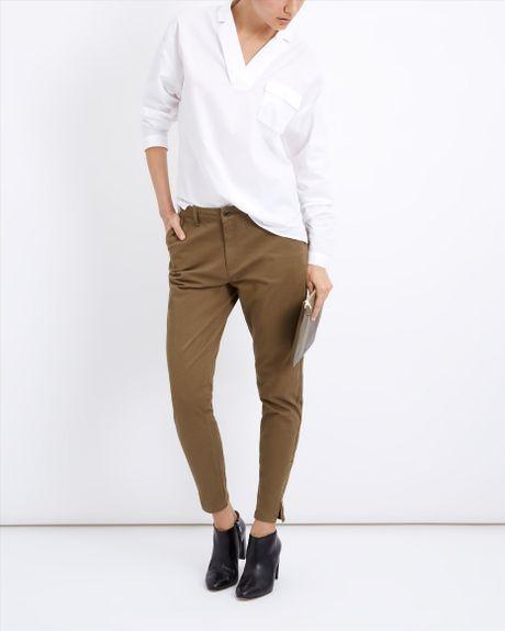 New Skinny Khaki Cargo Pants For Women  White Pants 2016