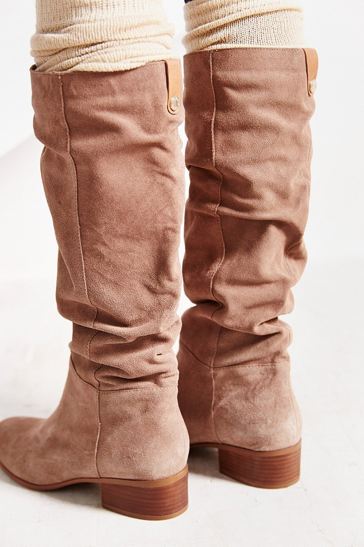 Steve madden Pondrosa Suede Tall Boot in Natural | Lyst