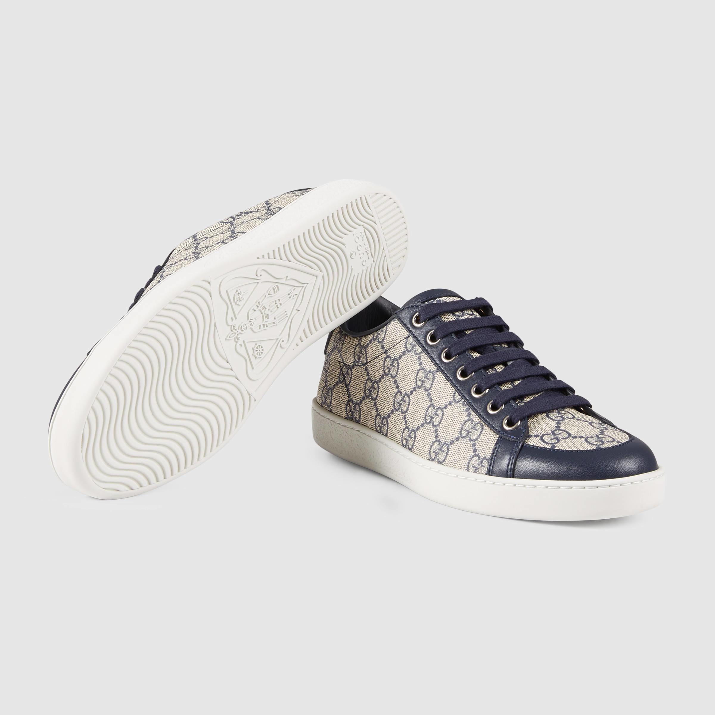 d17ccb1823b Lyst - Gucci Brooklyn GG Supreme Sneaker in Blue