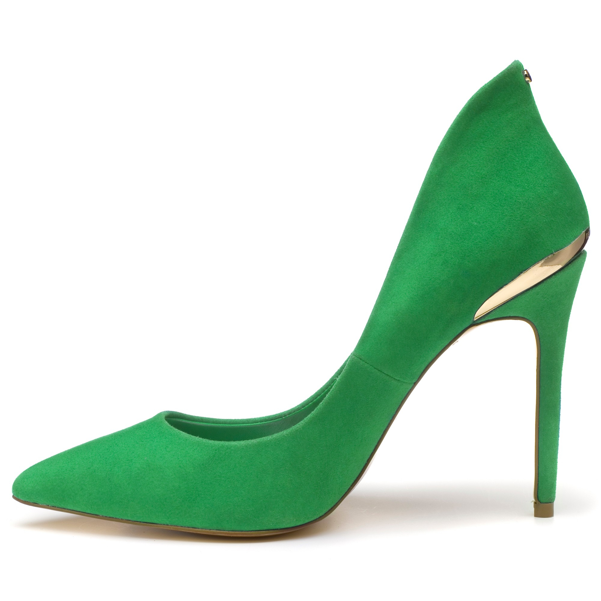 3cfc4469d2fe Ted Baker Savenniers Suede High Heeled Court Shoes in Green - Lyst