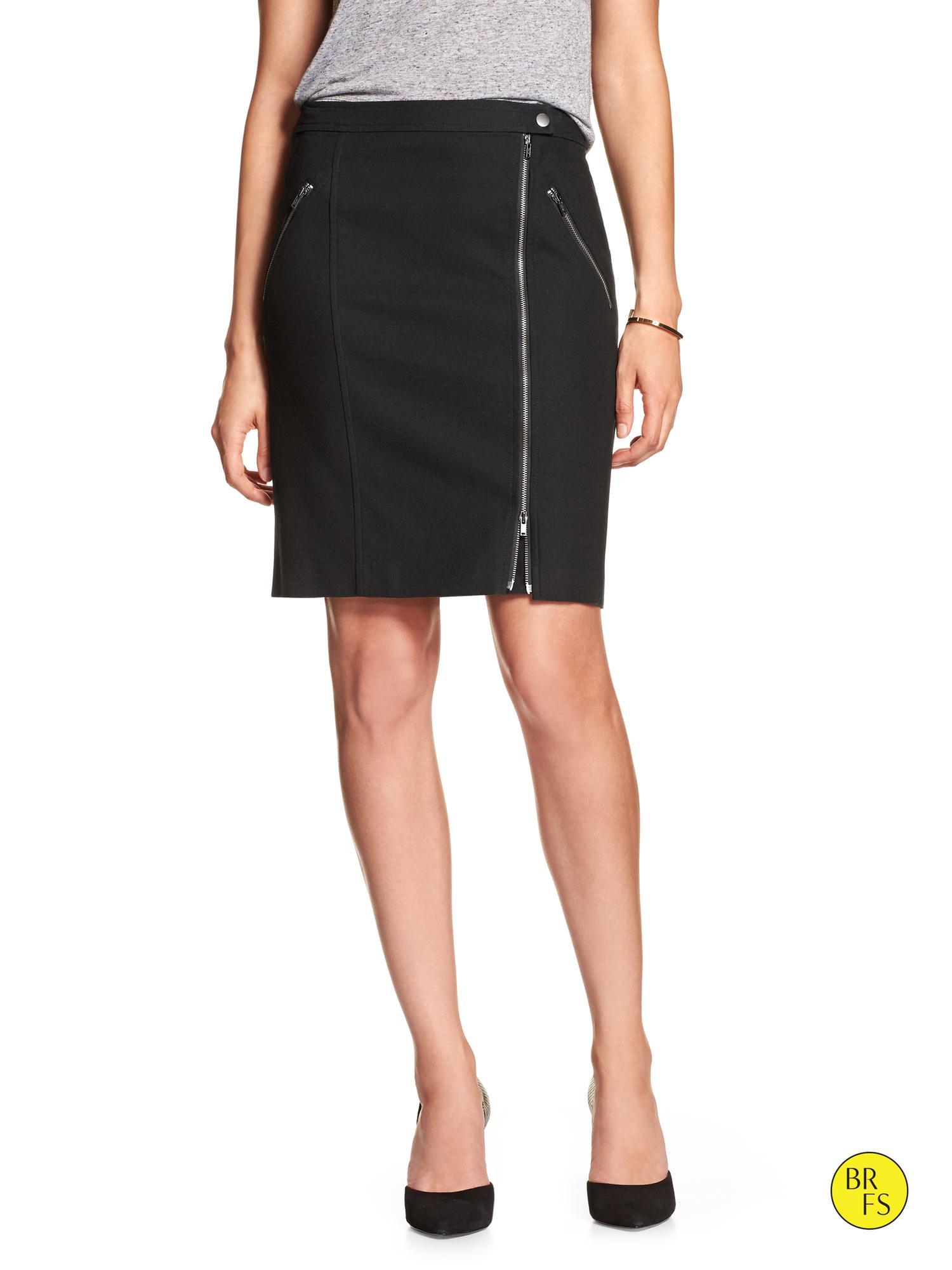 banana republic factory asymmetrical zip pencil skirt in