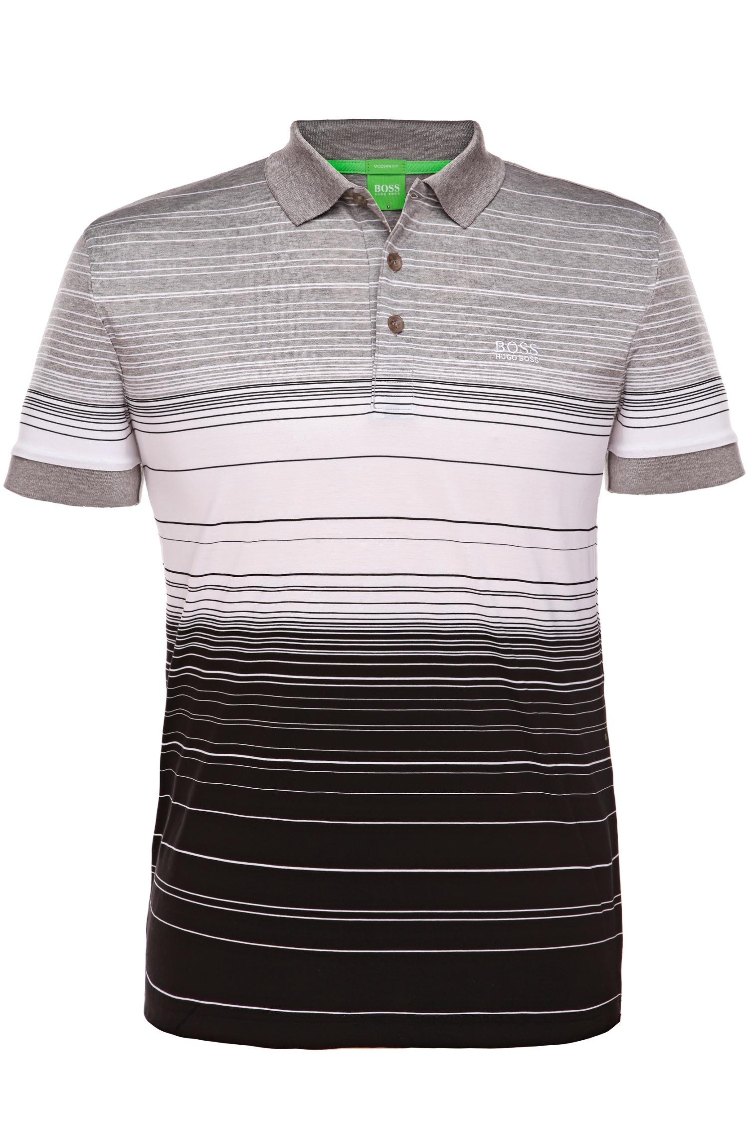 dd46b485a BOSS Green 'paddy 3' | Modern Fit, Mercerized Cotton Polo in Gray ...