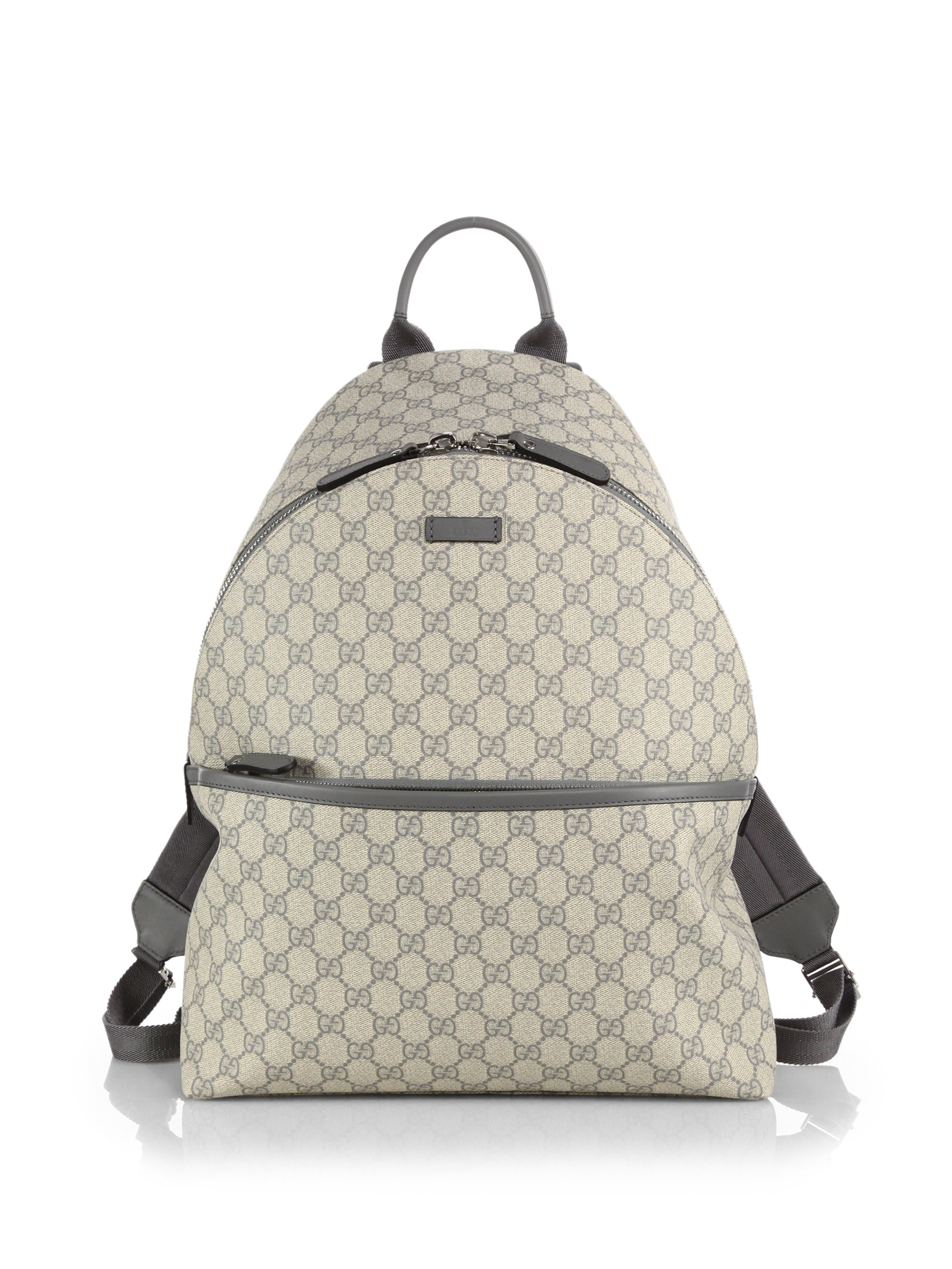 dede051623d Lyst Gucci Gg Supreme Canvas Backpack In Gray For Men. Gallery. Lyst Gucci  Limited Edition ...
