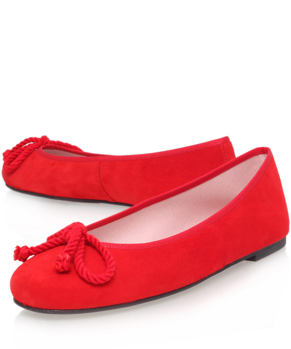 pretty ballerinas red ami suede ballerina flats in red lyst. Black Bedroom Furniture Sets. Home Design Ideas