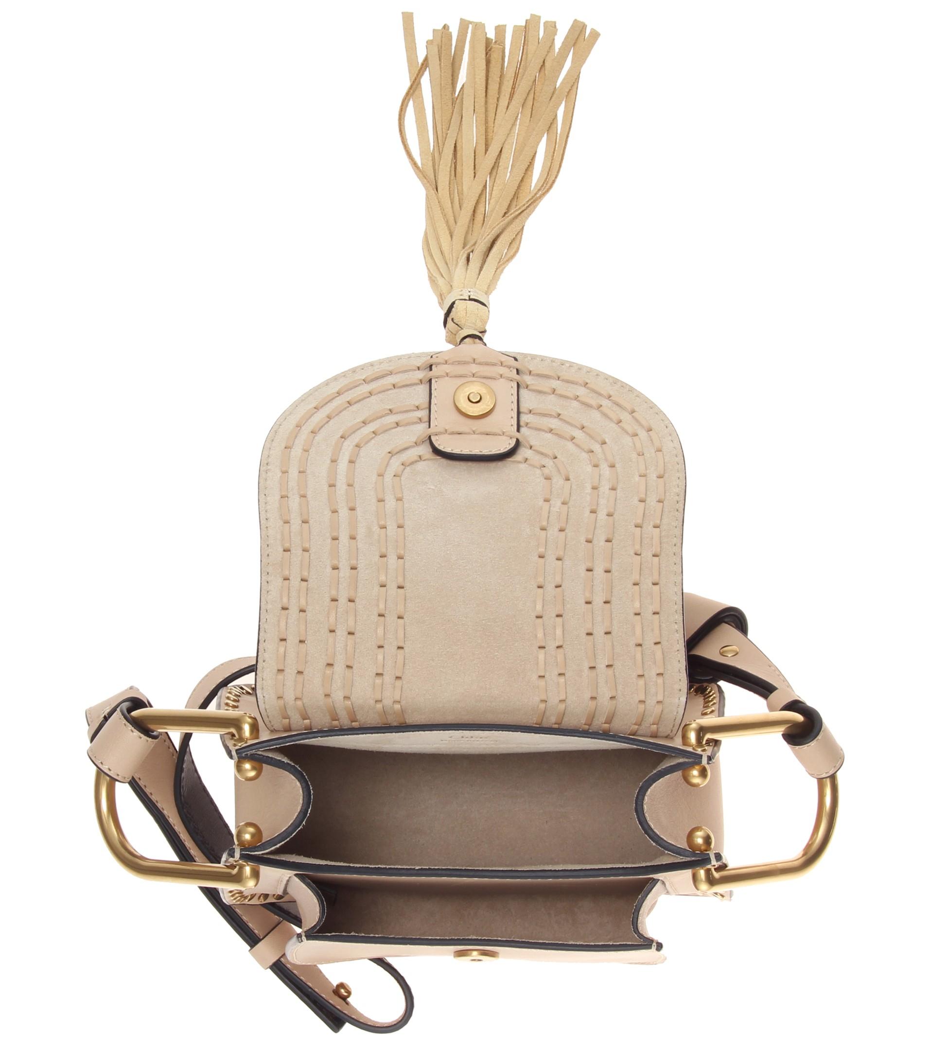 chloe hand bag - Chlo�� Hudson Leather Shoulder Bag in Beige | Lyst