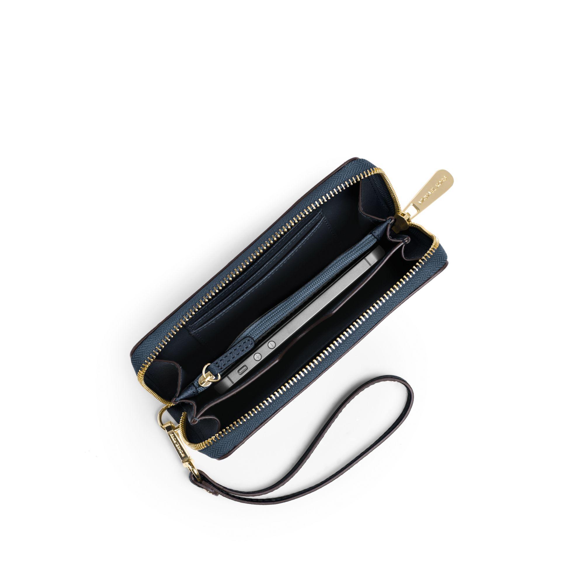 a71bc572b413 michael kors jet set travel large smartphone wristlet luggage ...