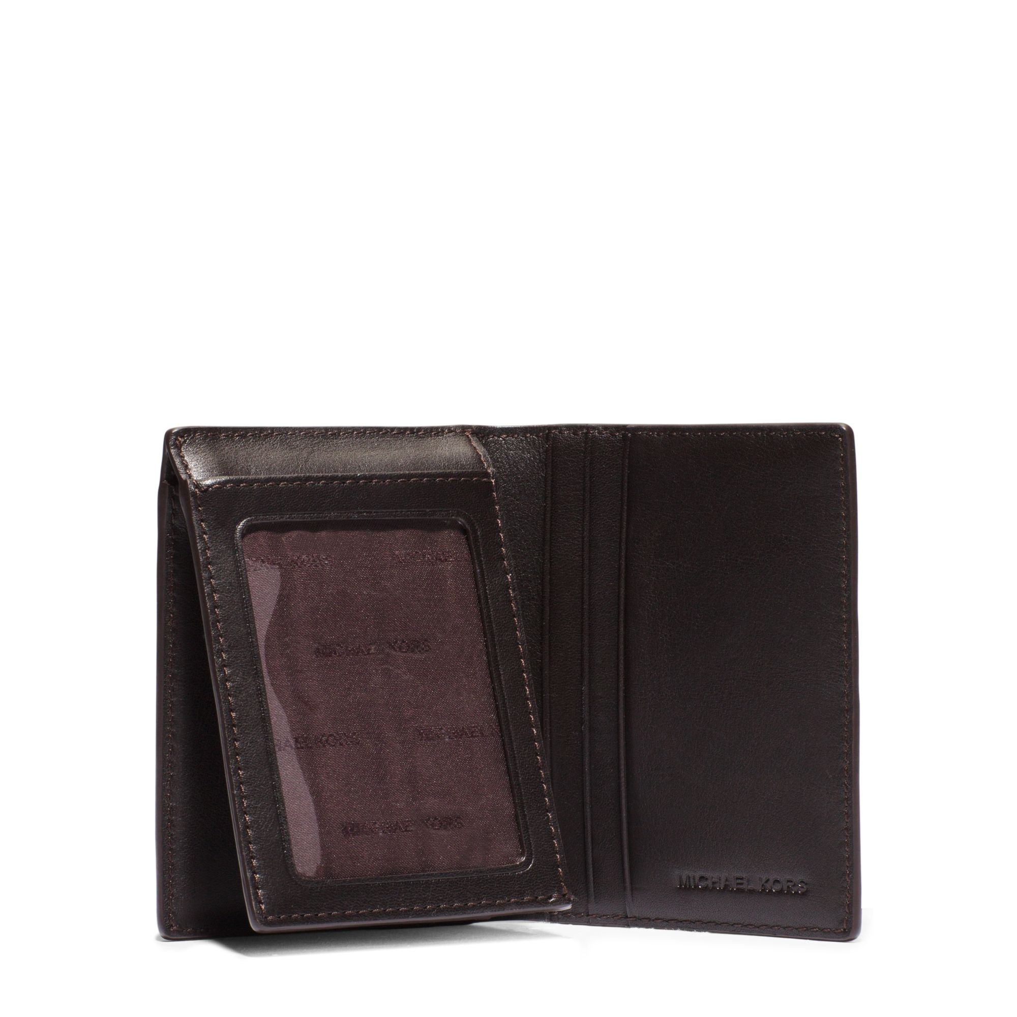 263e5f6b5cda ... ZIP Around Wallet Lyst - Michael Kors Jet Set Logo L-fold Wallet in  Brown for ...
