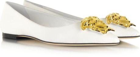 Versace Ballerina Shoes Ballerina in White Versace