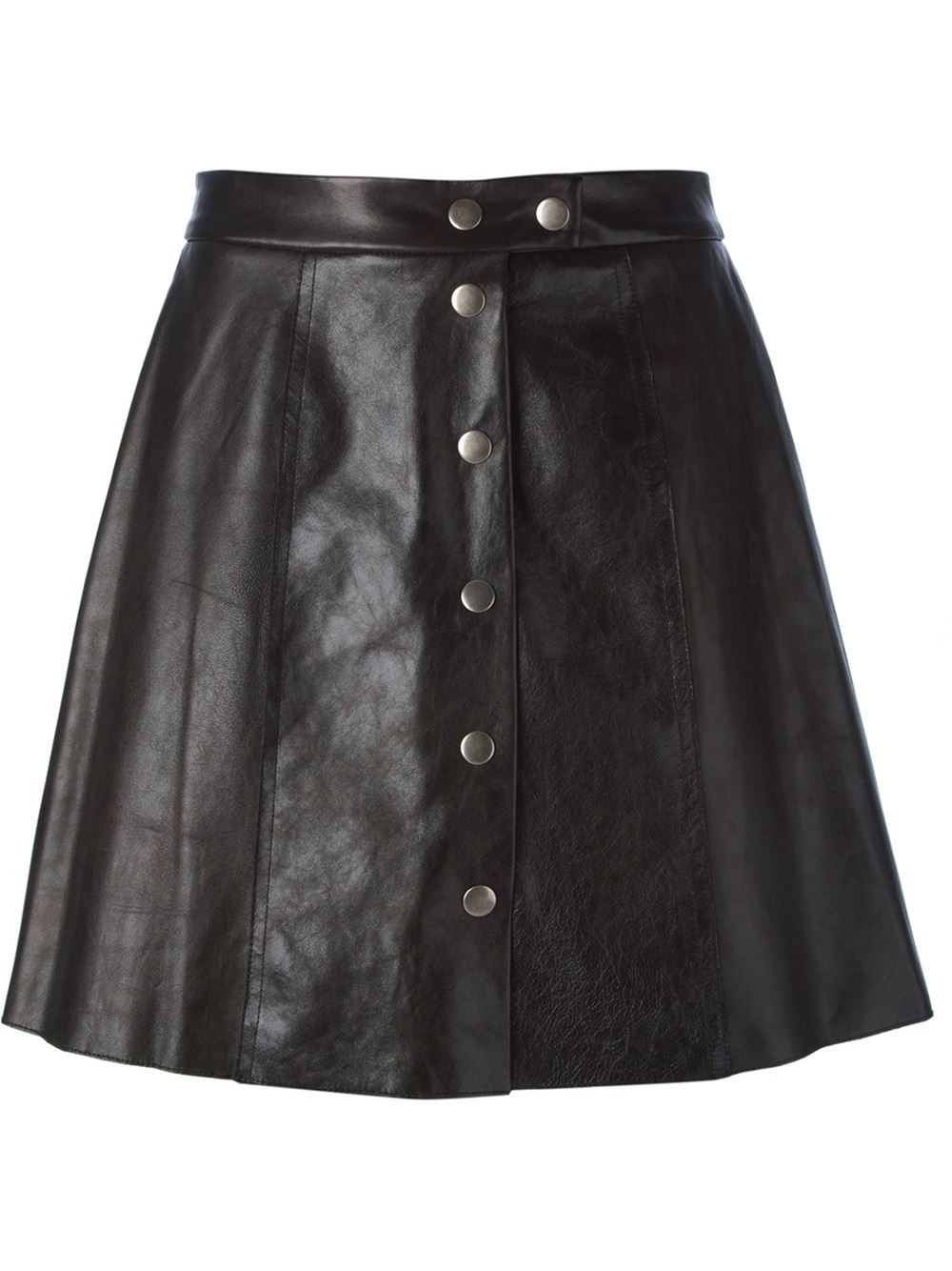 sea buttoned a line skirt in black lyst