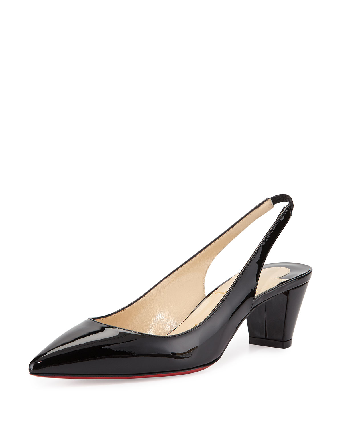 mens red bottom dress shoes - Christian louboutin Karelli Slingback Red Sole Pump in Black (red ...